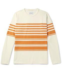 Albam | Striped Cotton-Jersey T-Shirt Off-