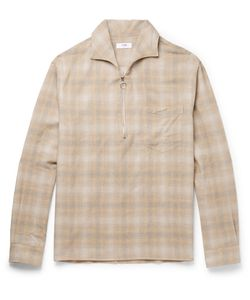 CMMN SWDN | Checked Cotton And Wool-Blend Shirt