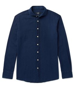 Hackett | Kent Slim-Fit Cutaway-Collar Washed-Cotton Shirt