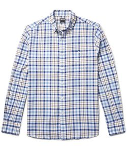 TODD SNYDER | Button-Down Collar Checked Cotton Shirt