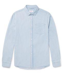 SATURDAYS NYC | Crosby Slim-Fit Button-Down Collar Washed-Denim Shirt
