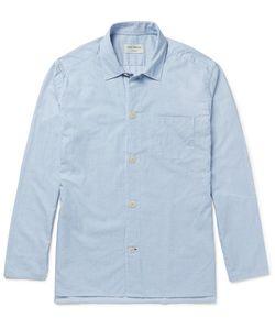 Oliver Spencer Loungewear | Pinstriped Cotton Pyjama Shirt