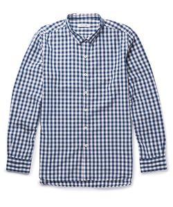 NONNATIVE | Dweller Button-Down Collar Gingham Cotton-Blend Shirt