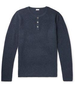 Schiesser | Julius Waffle-Knit Wool And Cashmere-Blend Henley T-Shirt