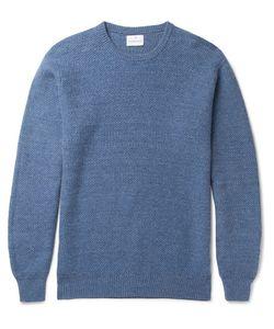 Kingsman | Tuck-Stitch Wool And Linen-Blend Sweater