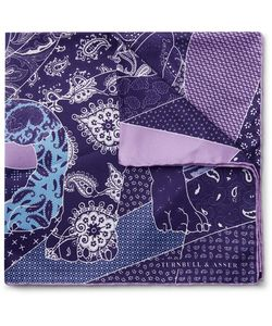 Turnbull & Asser | English Bulldog Printed Silk-Twill Pocket Square