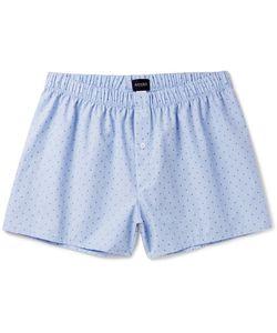 Hanro   Checked Cotton-Jacquard Boxer Shorts