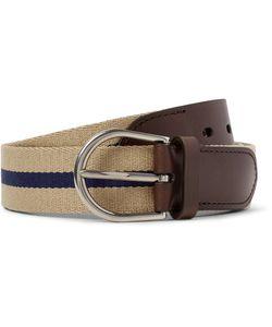 Dunhill | 3.5cm Leather-Trimmed Webbing Belt