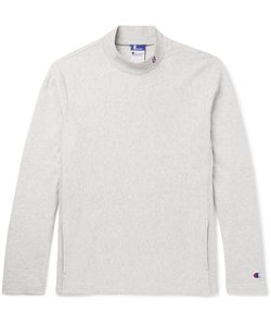 Beams | Champion Slim-Fit Cotton-Blend Jersey Mock-Neck Sweatshirt