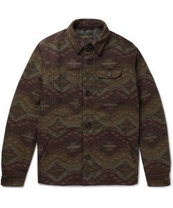 Freemans Sporting Club | Patterned Wool-Blend Primaloft Shirt Jacket