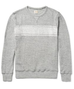 Faherty | Striped Cotton-Terry Sweatshirt