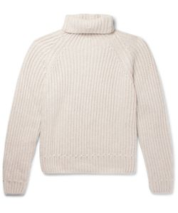 BERLUTI | Ribbed Cashmere Rollneck Sweater