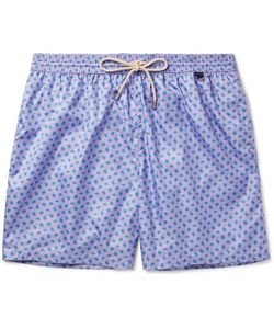 RUBINACCI | Mid-Length Turtle-Print Swim Shorts