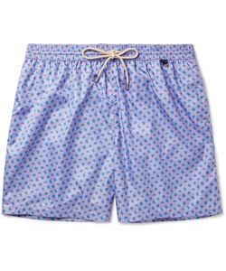 RUBINACCI | Mid-Length Turtle-Print Swim Shorts