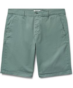NN07 | Crown Garment-Dyed Stretch-Cotton Twill Shorts