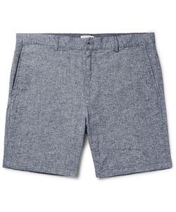 Club Monaco | Baxter Stretch Linen And Cotton-Blend Chambray Shorts