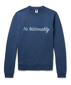 NN07 | Printed Garment-Dyed Loopback Cotton-Jersey Sweatshirt