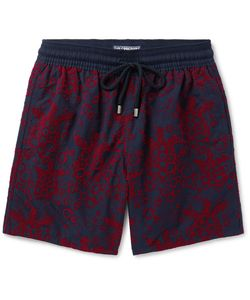 Vilebrequin   Moorea Long-Length Flocked Swim Shorts