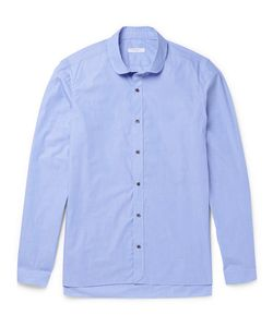 Boglioli | Penny-Collar End-On-End Cotton Shirt