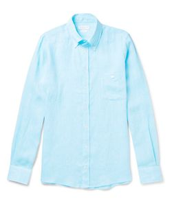 RICHARD JAMES | Button-Down Collar Slub Linen Shirt