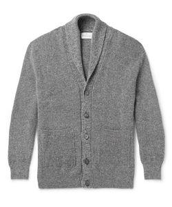Kingsman | Shawl-Collar Mélange Wool And Cotton-Blend Cardigan