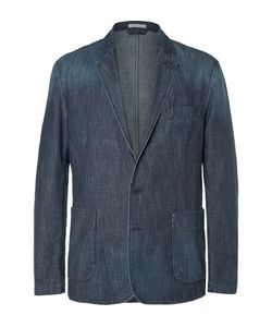 Tomas Maier | Slim-Fit Washed-Denim Blazer