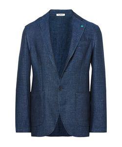 Eidos | Slim-Fit Herringbone Linen Blazer