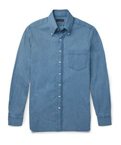 Thom Sweeney | Button-Down Collar Denim Shirt