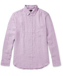 J.Crew | Slim-Fit Button-Down Collar Slub Linen Shirt