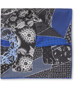 Turnbull & Asser | English Bulldog Printed Silk Pocket Square