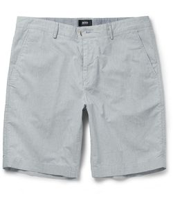 HUGO BOSS | Striped Stretch-Cotton Shorts