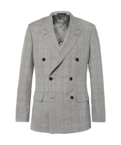 Kingsman | Harry Double-Breasted Prince Of Wales Checked Linen Wool