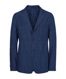 TODD SNYDER | Unstructured Dyed Slub Cotton And Linen-Blend Blazer