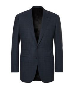 Thom Sweeney | Storm Slim-Fit Windowpane-Checked Wool Suit Jacket