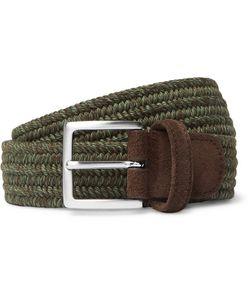 ANDERSON'S | 3.5cm Suede-Trimmed Woven Cord Belt