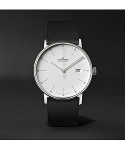Junghans | Form A 40mm Automatic Stainless Steel And Leather Watch