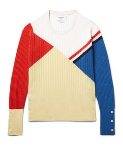 Thom Browne | Colour-Block Ribbed Cashmere Sweater