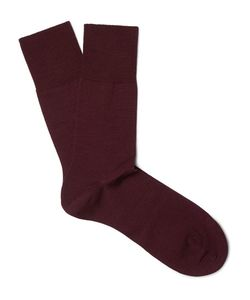 Falke | Airport Mélange Virgin Wool-Blend Socks