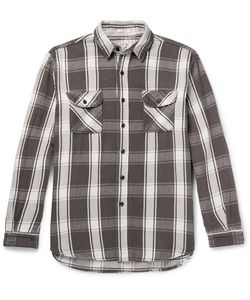 Orslow | Oversized Checked Cotton-Twill Overshirt