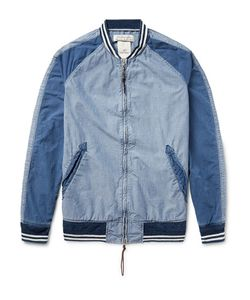 Remi Relief | Panelled Denim Bomber Jacket