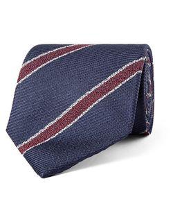 Drake's | 8cm Striped Silk-Jacquard Tie