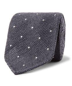 Drake's | 8cm Pin-Dot Wool And Silk-Blend Tie