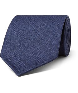 Thom Sweeney | 8cm Herringbone Wool Silk And Linen-Blend Tie