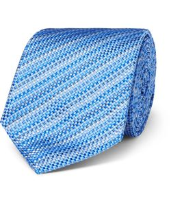 Turnbull & Asser | 8cm Striped Silk-Jacquard Tie