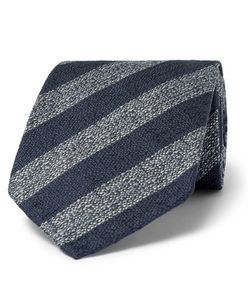 Dunhill | 8cm Striped Mulberry Silk Tie
