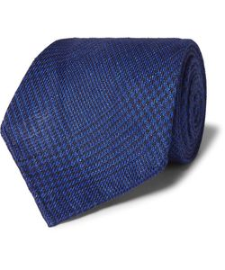 Emma Willis | Prince Of Wales Checked Linen Tie