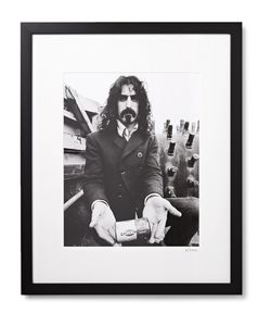 Sonic Editions | Framed Frank Zappa Print 17 X 21