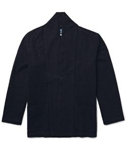 Blue Blue Japan | Shawl-Collar Open-Knit Cotton Jacket