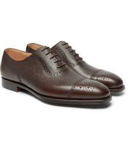GEORGE CLEVERLEY | Adam Pebble-Grain Leather Oxford Brogues