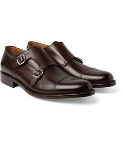 O'Keeffe | Cap-Toe Polished-Leather Monk-Strap Shoes